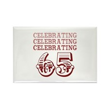Celebrating 65! Rectangle Magnet (10 pack)