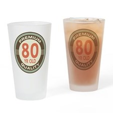 80th Birthday Vintage Drinking Glass