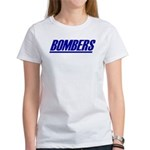 BOMBERS Women's T (sm plogo on back)
