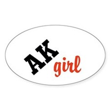 AK girl Decal