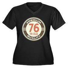 76th Birthday Vintage Women's Plus Size V-Neck Dar