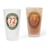 72nd Birthday Vintage Drinking Glass