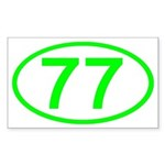 Number 77 Oval Rectangle Sticker