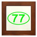 Number 77 Oval Framed Tile