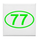 Number 77 Oval Tile Coaster
