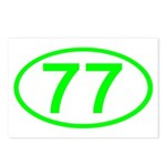 Number 77 Oval Postcards (Package of 8)