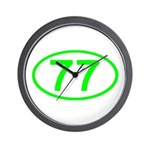 Number 77 Oval Wall Clock