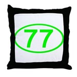 Number 77 Oval Throw Pillow