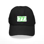 Number 77 Oval Black Cap
