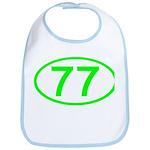 Number 77 Oval Bib