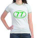 Number 77 Oval Jr. Ringer T-Shirt