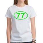 Number 77 Oval Women's T-Shirt