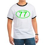 Number 77 Oval Ringer T