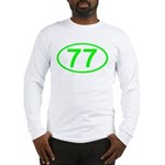 Number 77 Oval Long Sleeve T-Shirt