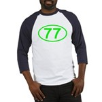 Number 77 Oval Baseball Jersey