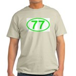 Number 77 Oval Ash Grey T-Shirt