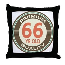 66th Birthday Vintage Throw Pillow
