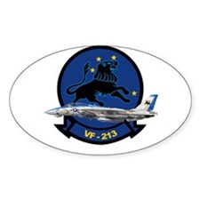 F-14 Tomcat VF-213 Blacklions Oval Decal