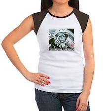 tereshkova - blue cropped T-Shirt