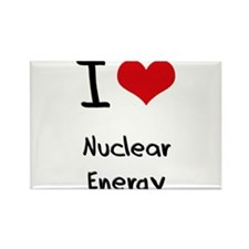 I Love Nuclear Energy Rectangle Magnet