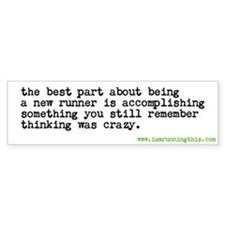 Cute Runners Bumper Sticker