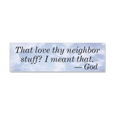 Cute Christian liberal Car Magnet 10 x 3