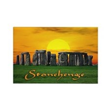 Stonehenge at Sunset - Rectangle Magnet