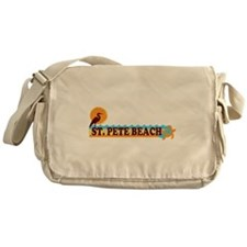 St. Pete Beach - Beach Design. Messenger Bag