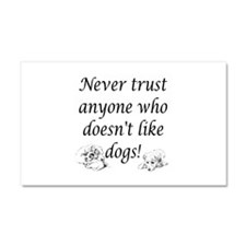 trust dog pawprints black white plastic.png Car Ma