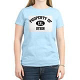 Property of Byron Women's Pink T-Shirt