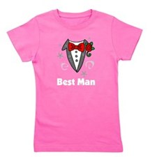 best man tuxedo darks Girl's Tee