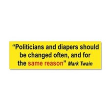 POLITICIANS AND DIAPERS SHOULD BE... car magnet