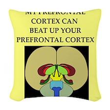 smart brain joke gifts apparel Woven Throw Pillow