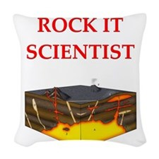 geology gifts Woven Throw Pillow