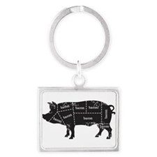 Bacon Pig Keychains
