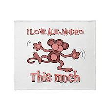 I Love Alejandra Throw Blanket