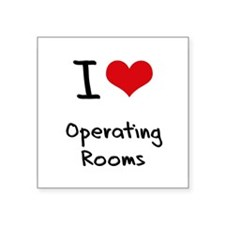 I Love Operating Rooms Sticker