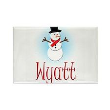 Snowman - Wyatt Rectangle Magnet