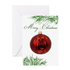 Leonberger Puppy Christmas Greeting Card