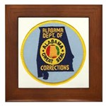 Alabama Corrections Framed Tile