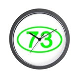 Number 73 Oval Wall Clock
