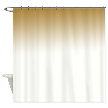Peach White Shower Curtain by be inspired by life