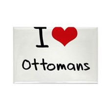 I Love Ottomans Rectangle Magnet