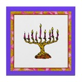 Chanukah Tile Coaster