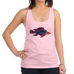 Fish Print Racerback Tank Top