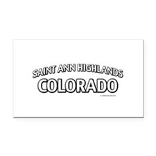 Saint Ann Highlands Colorado Rectangle Car Magnet