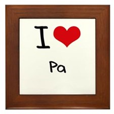 I Love Pa Framed Tile