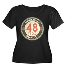 48th Birthday Vintage Women's Plus Size Scoop Neck