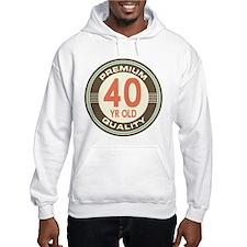 40th Birthday Vintage Jumper Hoody