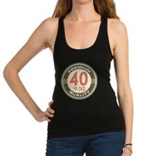40th Birthday Vintage Racerback Tank Top